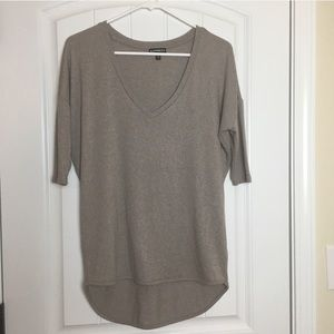 Express High Low V Neck Top Size XS